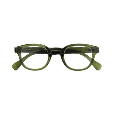 Reading glasses in army green +1
