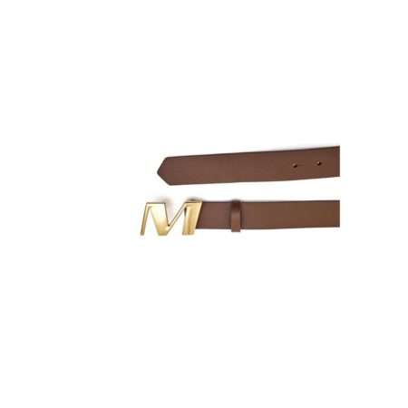 Leather belt with M buckle