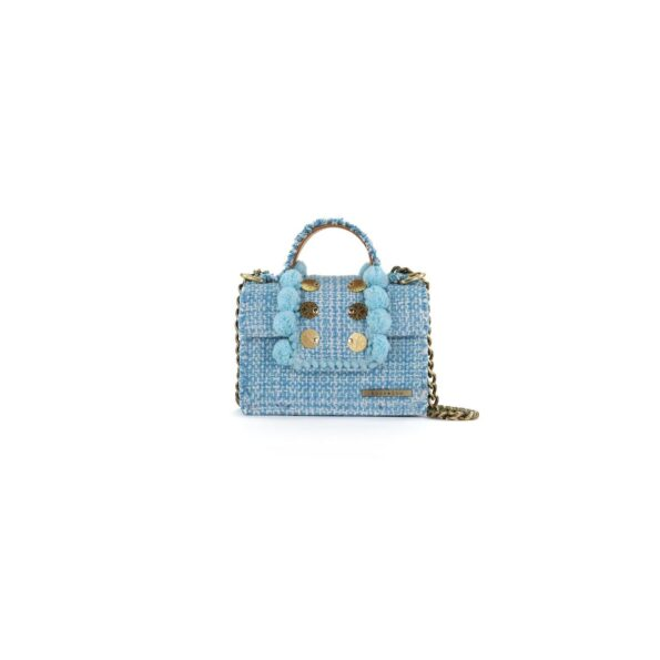 Fabric Shoulder Bag in Aquamarine