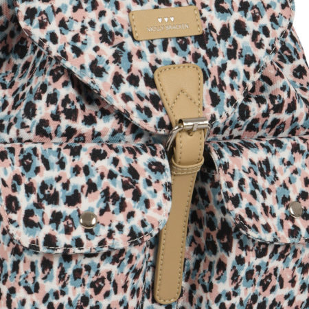 Backpack in pastel animal print