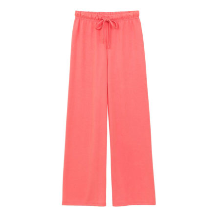 Wide leg track pants in pink