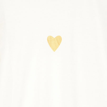 Tshirt with heart print in white