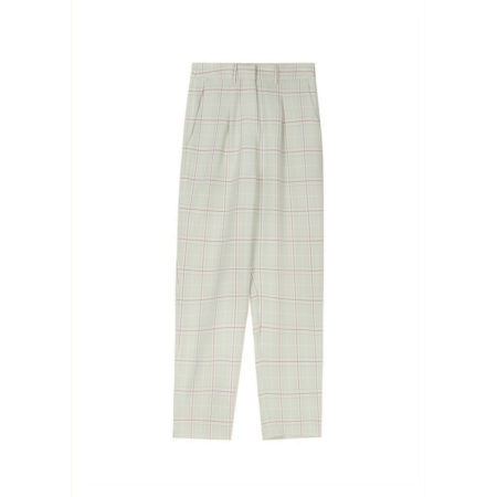 Checked pattern pants