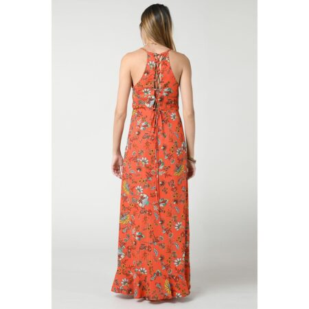 Long dress with open back