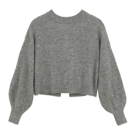 Wooven sweater with open back