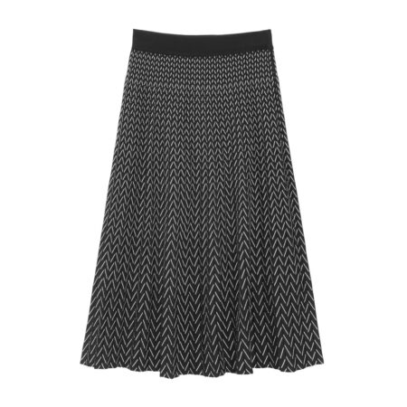 Peated knit skirt