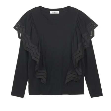 Long sleeve blouse with ruffles