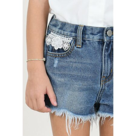 Lace detail shorts