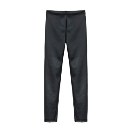 Balck with oiled effect pants
