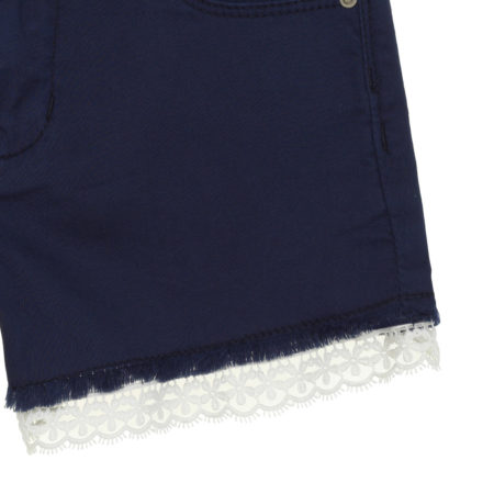 Denim shorts with lace details