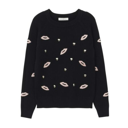 Long sleeve wooven sweater with embroideries