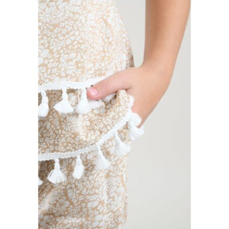 Camisole with pompoms