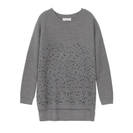 Sequined Wooven sweater
