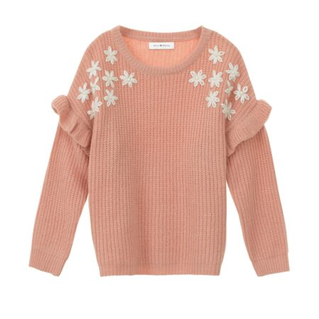 Sweater with flowers