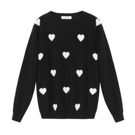 Sweater with hearts print