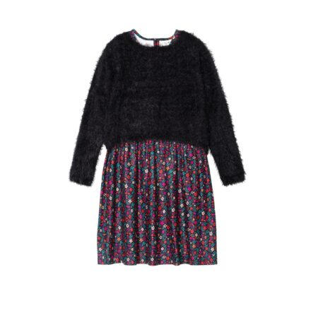 Wooven sweater set and floral dress