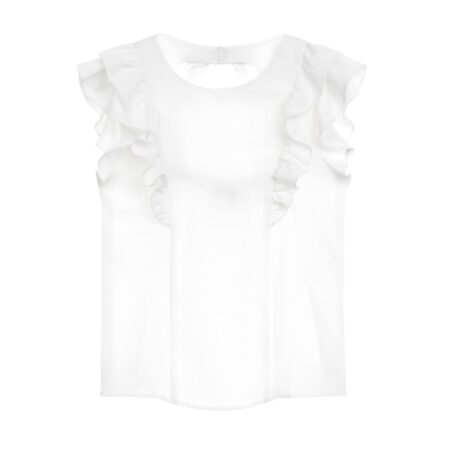 Frilled top with open back