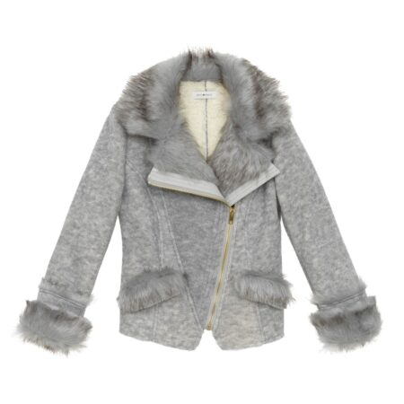 Jacket with faux fur