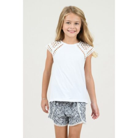 Tshirt with lace detail