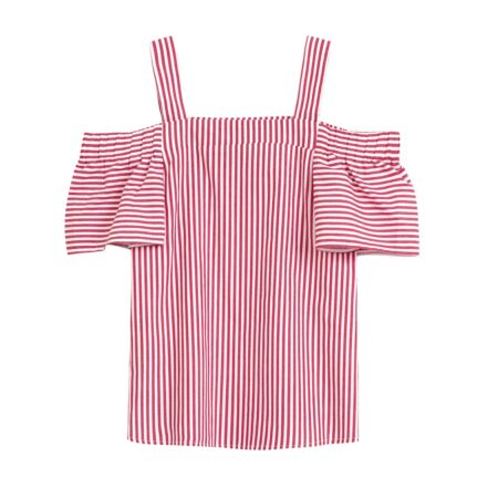 Drop the shoulders striped top