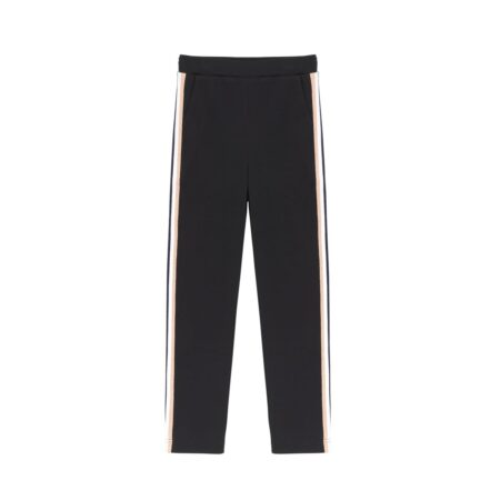 Trousers with stripes on the side