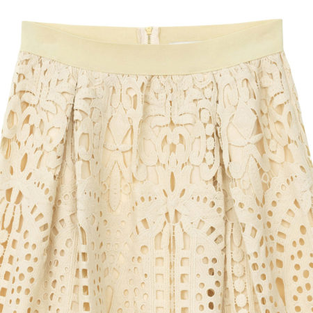 Midi skirt in lace