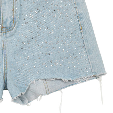 High waist shorts with crystals