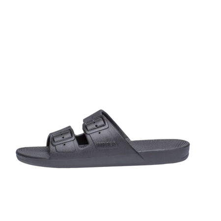 Dark grey women slides