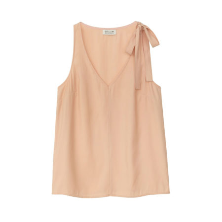 Top with bow detail shoulder in light pink